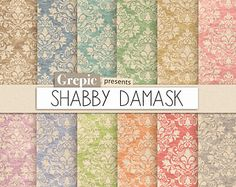 Shabby digital paper: SHABBY ROSES shabby look in от MyRpaper