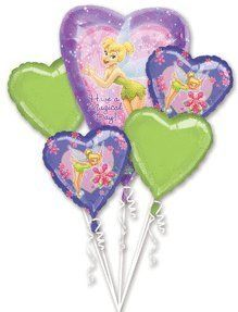 Disney Princess Tinkerbell Birthday party decoration balloon bouquet