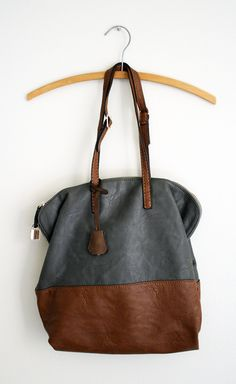 slouchy leather (straps close together) . satchel . tote bag