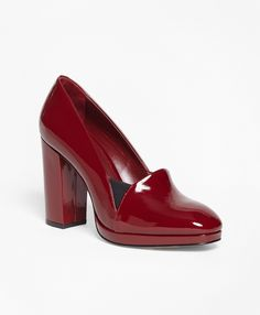 3cc1abd38042b Stacked Patent Leather Heels - Brooks Brothers
