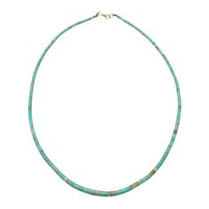 Collier Navajo en Turquoise. Fermoir en argent. | Harpo Paris #nativeamerican #collierturquoise #navajo #pueblo #zuni