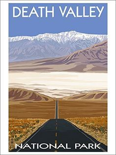 Highway View - Death Valley National Park (9x12 Art Print, Wall Decor Travel Poster) Lantern Press http://www.amazon.com/dp/B00N5CELWS/ref=cm_sw_r_pi_dp_IllGwb193H8K5