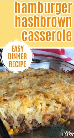 This Hashbrown Hamburger Casserole with Veggies and Cheese Recipe makes an excellent all-in-one-dish dinner recipe. This Hashbrown Hamburger Casserole with Veggies and Cheese Recipe makes an excellent all-in-one-dish dinner recipe. Dinner Casserole Recipes, Meat Recipes For Dinner, Healthy Meat Recipes, Supper Recipes, Cooking Recipes, Easy Main Dish Recipes, Easy Casserole Dishes, Hamburger Dishes, Beef Dishes