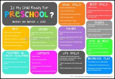 Preschool Readiness Checklist - Mudpies and Makeup