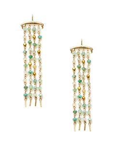 Peruvian Opal Fringe Earrings by Padma on Gilt