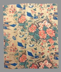 Textiles - Textile, printed - Search the Collection - Winterthur Museum Bird Fabric, Patchwork Fabric, Fabric Art, Antique Quilts, Vintage Textiles, Vintage Quilts, Textile Prints, Textile Design, Flower Prints