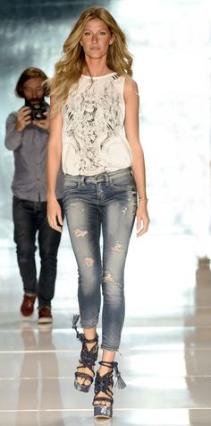 Classiest collection of Latest Jeans Fashion 2015 trends for women with smart and innovative ideas to jeans up this season.