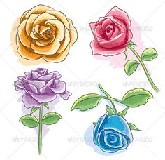 Watercolor Rose #GraphicRiver illustration of watercolor rose with various angle and color Created: 3November11 GraphicsFilesIncluded: VectorEPS Layered: Yes MinimumAdobeCSVersion: CS Tags: art #artistic #artwork #beautiful #beauty #blue #drawing #flower #handdrawing #illustration #orange #painting #pencildrawing #pretty #purple #red #rose #sketch #vector #watercolor