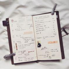 """28 Likes, 1 Comments - •• (@ngohi) on Instagram: """"Week 25 * * * #midori #midoritravelersnotebook #travelersnotebook #notebook #traveljournal…"""""""