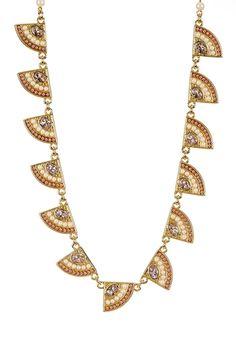 12K Gold Casablanca Cachet Station Necklace