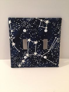 Starry Night Sky Glow in the Dark Light Switch Cover Plate Light Switch Art, Light Switch Plates, Chambre Indie, Diy Love, Cute Room Decor, Aesthetic Room Decor, Bedroom Art, Light Switch Covers, Room Paint