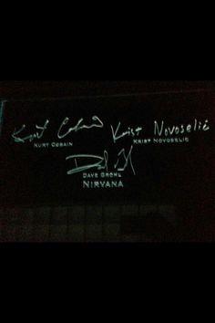 Nirvana autographs