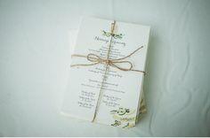 A Backyard Barn Wedding in the Woods: lovely lovely invites
