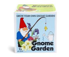 Gift Republic Sow and Grow Gnome Garden Gift Box by Gift Republic. $13.00. Grow your own gnome garden. In the gift box are seeds, growing pots, compost discs, markers and more. Bluebell, Honeysuckle and Primrose seeds. This gift box includes everything needed for kids to grow their own gnome garden. Gnomes not included. Kids will love to grow these plants. They will learn about nature and have fun whilst sowing and growing these three types of gnome-friendly flowers.What...