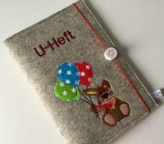 U-Hefthüllen - U - Heft Hülle ,Hase, - ein Designerstück von Utas-Naehstuebchen bei DaWanda