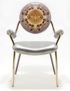 brass vidal grau cosmos chairs in nappa leather   cosmos, settees