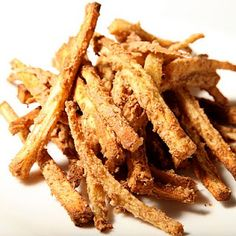 parsnip and sweet potato fries with almond butter coating. Uh....YES PLEASE
