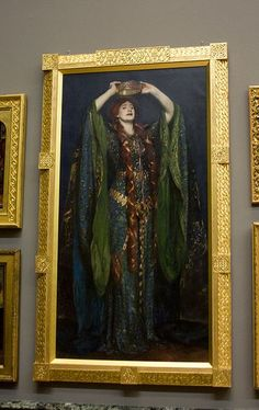Ellen Terry as Lady Macbeth By John Singer Sargent. Victorian Paintings, Victorian Art, Leighton House Museum, Antique Photo Frames, Lady Macbeth, Tate Britain, John Singer Sargent, Pre Raphaelite, Art And Architecture