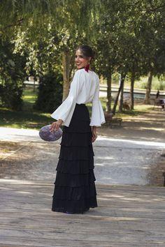 Look invitada de tarde: la falda de volantes   Invitada Perfecta