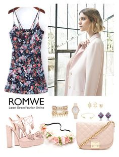 """Romwe 4"" by amra-f ❤ liked on Polyvore featuring Forever 21, Aquazzura, Charlotte Russe, Nuevo and River Island"