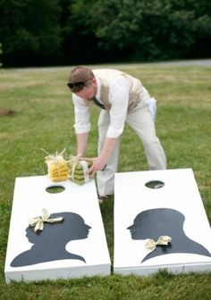 IF I were to make us a corn-hole set... it may have silhouettes on it.