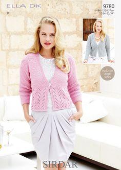 Cardigans in Sirdar Ella DK (9780) | Womens Knitting Patterns | Knitting Patterns | Deramores