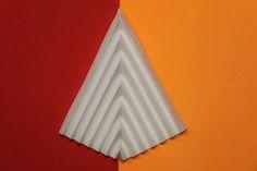 V pleat Paper folding Pattern