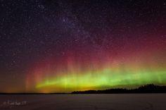 Revontulet ja Linnunrata Ylä-Savossa 29.1.2014. #aurora #auroraborealis #finland #sky