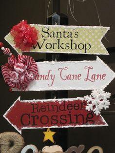 Santa's Workshop, Candy Cane Lane, Reindeer Crossing