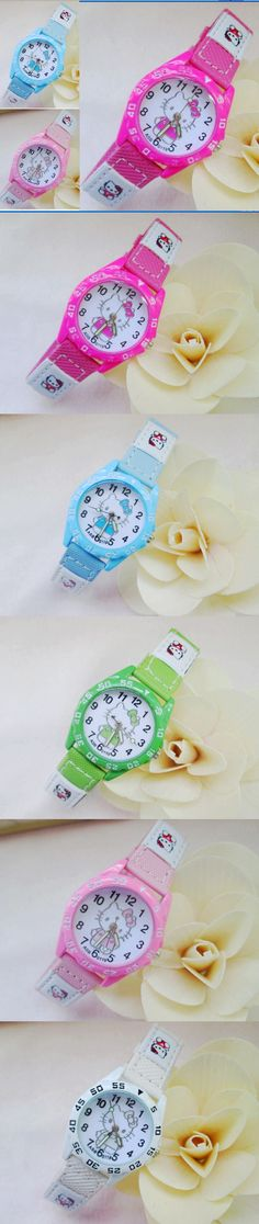 Hello Kitty New Children women watches analog quartz Cartoon Cute Lovely kids watch 10pcs $21.99