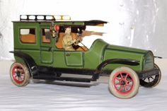Antique Germany GUNTHERMANN TAXI LIMOUSINE Tin Litho Wind Up Toy Car     eBay