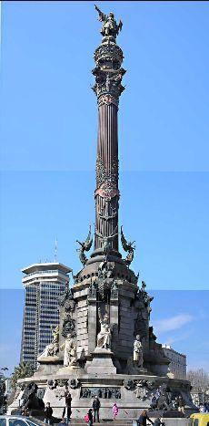 Barcelona, Estatua de Colón (statue of Christopher Columbus has an elevator to go to the top)