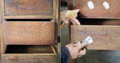 2. Aplicar massa Caso existam buracos ou trincas no móvel de madeira que irá pintar, aplique a massa para madeira, espere secar e lixe até que ela fique lisa e uniforme;