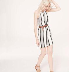light & breezy summer look (Lou & Grey Cabana Stripe Dress   Loft)