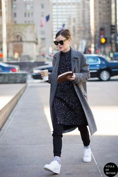 New York Fashion Week FW 2015 Street Style: Jo Ellison - STYLE DU MONDE | Street Style Street Fashion Photos