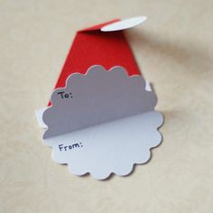 3d christmas gift tags