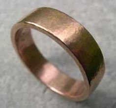 wedding band male. designer red gold wedding band wide