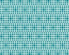 Feiner Popeline-Patchworkstoff SQUARED ELEMENTS, Quadrat-Optik, petrol-gebrochenes weiß