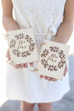 15 Customized Vow Booklets and Journals To Keep Your Promises!