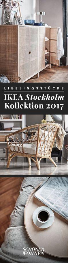 """Die """"Stockholm""""-Kollektionen sind qualitativ das Hochwertigste, was Ikea zu bieten hat. Feine Materialien wie schimmernder Samt auf dem Sofa gesellen sich zu handgefertigten Accessoires. Ab April 2017 sind die Schönheiten zu haben. Viel Spaß beim Entdecken!"""