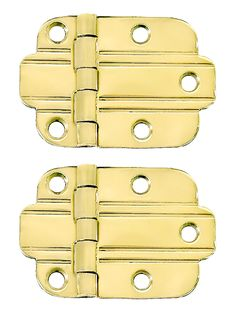 Surface Hinge. Pair of Solid Brass Art Deco Surface Cabinet Hinges With Choice of Finish