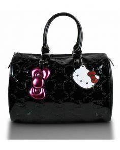 Hello Kitty Black Embossed Bag <3