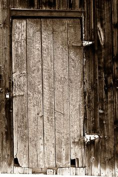 old doors | Old Rustic Black And White Barn Woord Door Photograph - Old Rustic ...