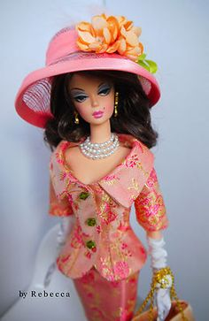 Barbie. What a beautiful coral mixed with a touch of tangerine!  Love.