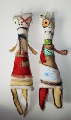 Monster Cloth primitive Rag Dolls by BeaMadeIt on Etsy, £9.99