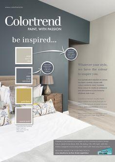 Paint Color Schemes, Kitchen Colour Schemes, Bedroom Color Schemes, Bedroom Paint Colors, Paint Colours, Hallway Colours, Office Colours, Colourtrend Paint, Trending Paint Colors