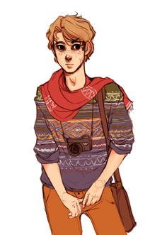 Remus doodle because he would definitely be one of those genuine hipsters without realising it. Remus (c) JK Rowling Ugly Sweaters and Polaroids Fanart Harry Potter, Character Inspiration, Character Art, Character Design, Character Ideas, Character Reference, Remus Lupin, Harry Potter Universal, The Marauders