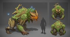 Dmitry Khrapovitsky on ArtStation. Forest Creatures, Fantasy Creatures, Mythical Creatures, Monster Concept Art, Monster Art, Creature Concept Art, Creature Design, Monsters Rpg, Character Concept