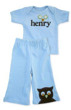darling baby henry pant set