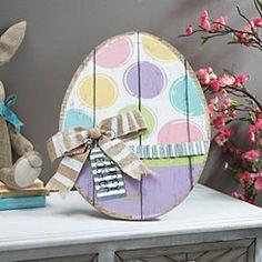 Pastel Polka Dot Easter Egg Easel